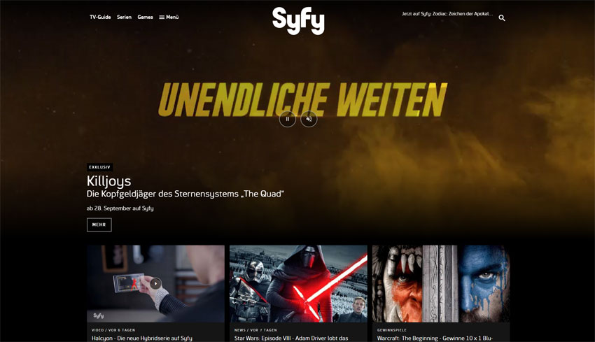 NBCUniversal International Networks: Syfy.de