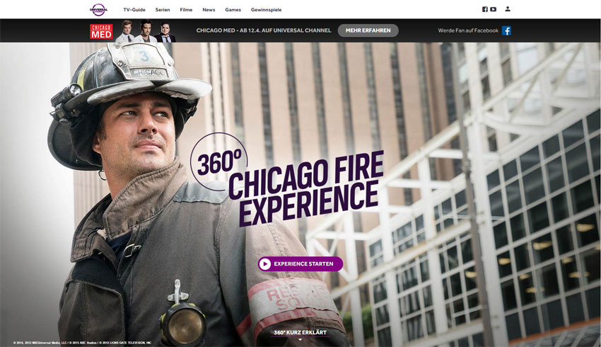 Universal Channel: Chicago Fire 360° Experience